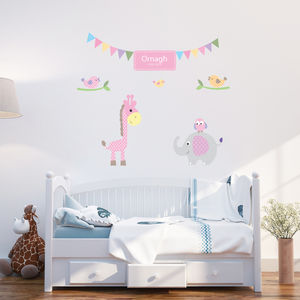 Personalised Baby Girl Wall Stickers