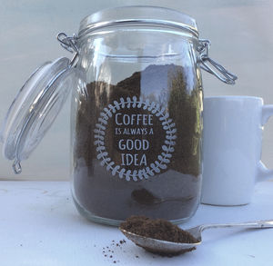 Coffee Is Always A Good Idea Glass Storage Jar - kitchen