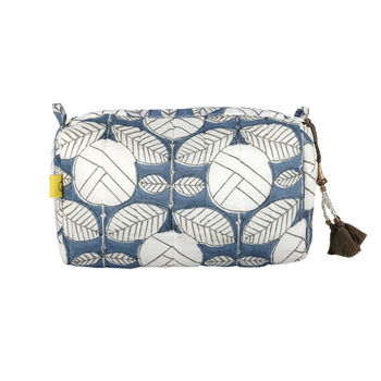 Degana Deco Rose Make Up Bag In Teal