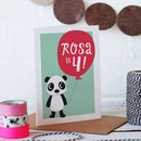Personalised Children's Panda Birthday Card
