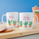 Personalised 'Prickly Before Coffee' Cacti Mug