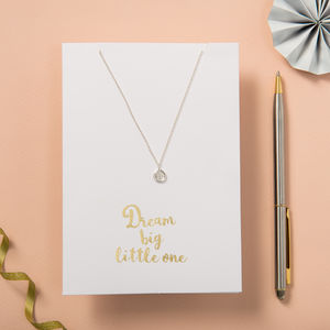 Dream Big Little One Card And Necklace Set