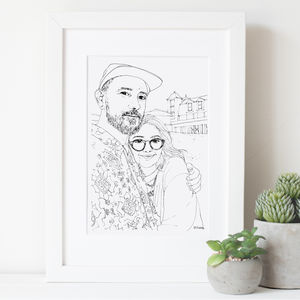 Personalised Family And Friends Sketch