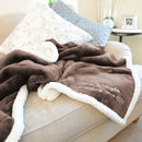 Personalised Mocha And White Super Soft Blanket