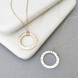 Personalised Circle Necklace - jewellery sale
