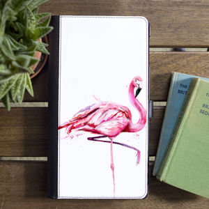Inky Flamingo Flip Phone Case - phone covers & cases