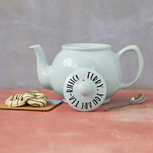 Personalised Tea Riffic Teapot - teapots