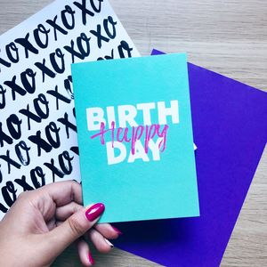 'Happy Birthday' Card Turquoise