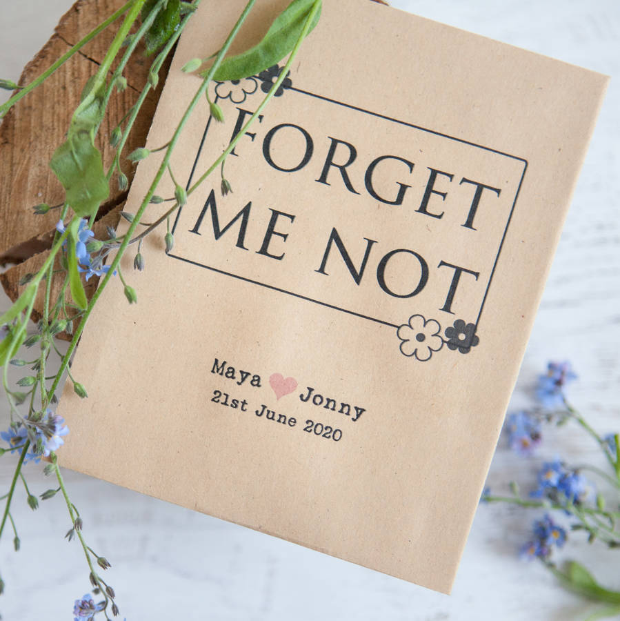 10 Forget Me Not Seed Packet Favours By Wedding In A Teacup Notonthehighstreet Com