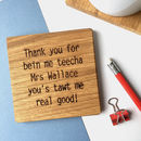 Personalised 'Thank You' Teacher Gift
