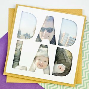 Personalised Photo Fathers Day Card 'Dad Lad'