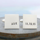 monogram wedding date cufflinks