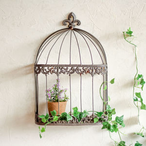 Antique Caged Plant Display - gifts for grandmothers