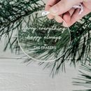 Personalised Clear Minimal Christmas Ornament