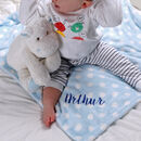 Personalised Baby Blanket With Hippo Friend