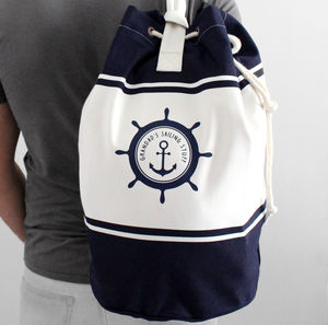Personalised Sailing Canvas Duffle Bag