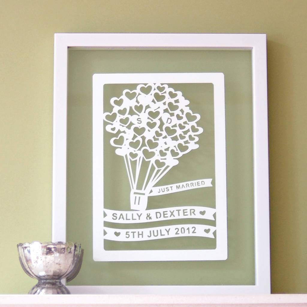 Wedding Gift Paper: Personalised Papercut Wedding Gift Art By Ant Design Gifts