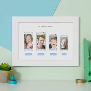 Personalised Family Selfie Photo Print - people & portraits
