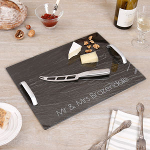 Personalised Contemporary Cheese And Wine Gift Set - kitchen
