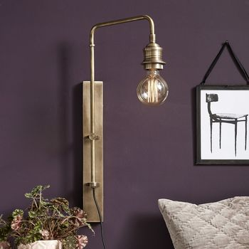 Brass Wall Lamp For Deco Bulb