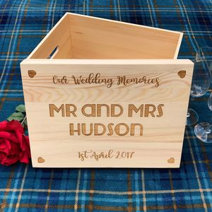 Large Wedding Keepsake Box - keepsake boxes