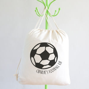Personalised Football Kit Bag - drawstring bags