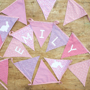 Personalised Bunting - children's decorative accessories