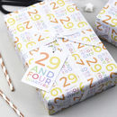 30th Birthday Wrapping Paper Set