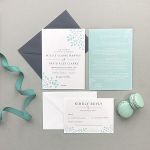 Alice Wedding Invitation - wedding stationery