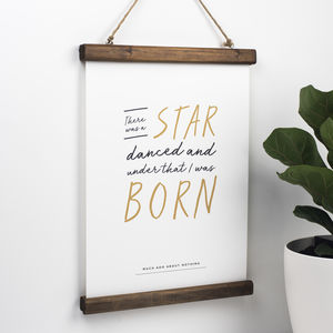 Shakespeare Quote Christening New Baby Print