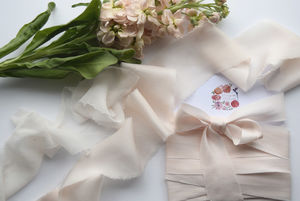 Blush Silk Ribbon Bundle - wedding stationery