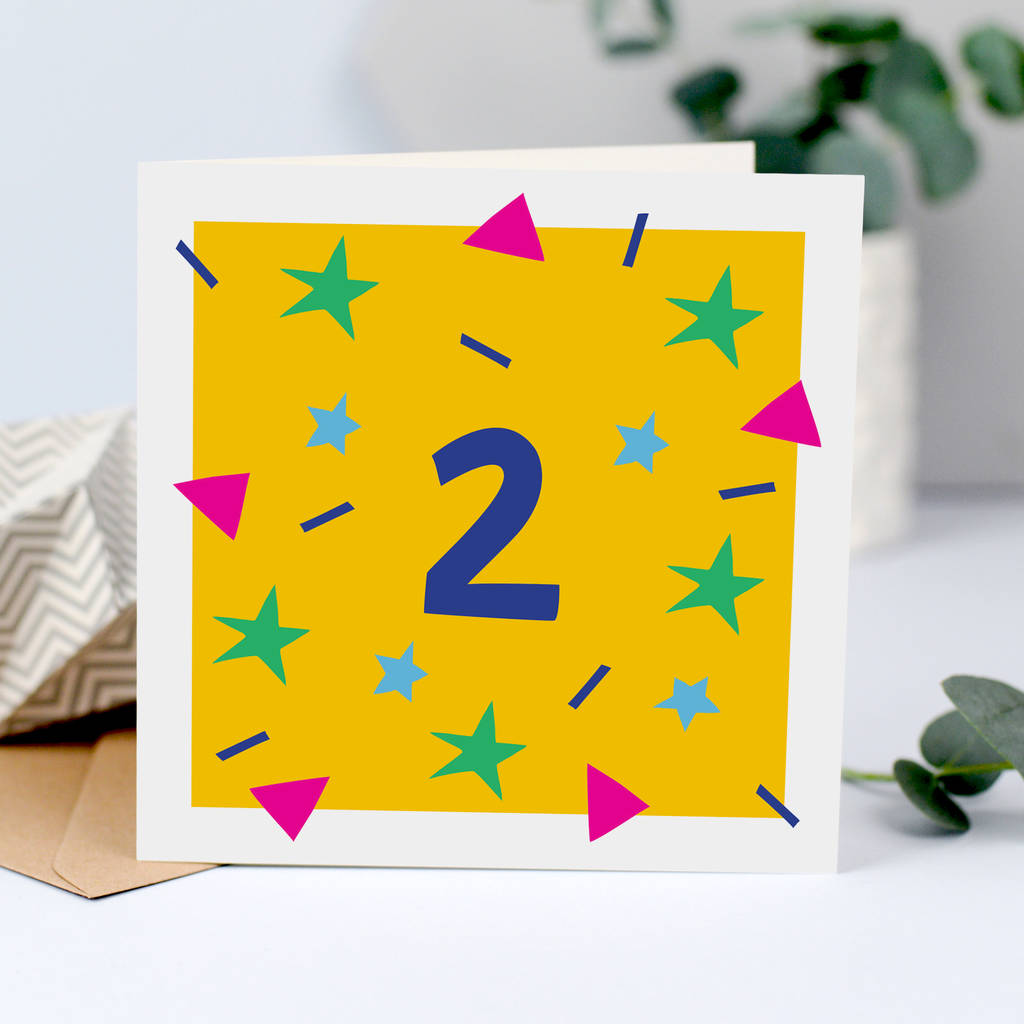 2nd Birthday Card For Two Year Old
