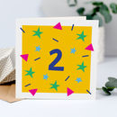 2nd Birthday Card, Card For Two Year Old
