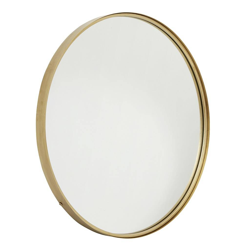 Large Gold Round Mirror By Bell & Blue ...
