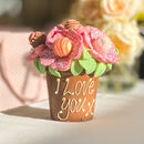 Belgian Chocolate Smash Flower Pot Pink