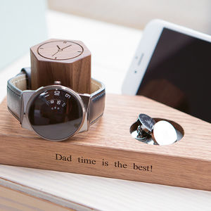 Personalised Bedside Watch And Phone Stand - gifts for fathers