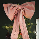 Giant Velvet Tree Topper Bow
