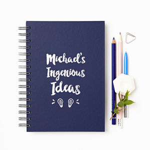 Personalised Ingenious Ideas Foiled Notebook