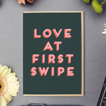 'Love At First Swipe' Card