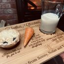 Personalised Christmas Eve Wooden Board