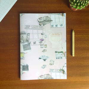 Pink Scrapyard Print Notebook