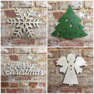 Classic British Steel Christamas Decorations - christmas signs & decorative letters