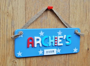 Kid's Bedroom Door Sign - children's room