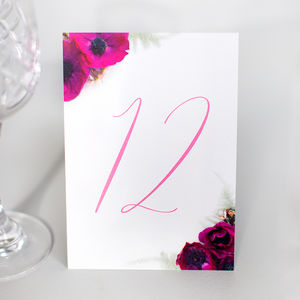 Table Numbers: La Violeta Collection