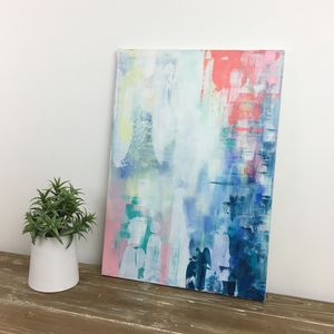 'Ephemeral' Original Handpainted Acrylic On Canvas - canvas prints & art