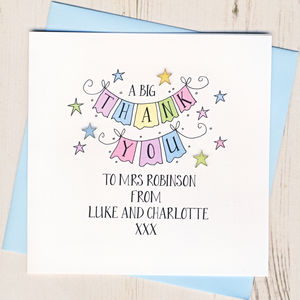 Personalised Big Thank You Teacher Card
