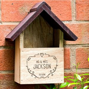 Personalised Wooden Bird House - for him