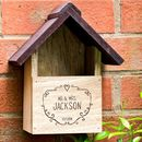Personalised Wooden Bird House