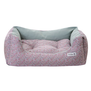Pink Liberty Print Luxury Dog Bed