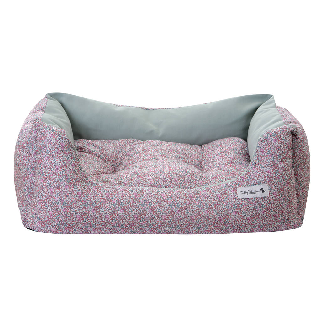luxury dog beds. Pink Liberty Print Luxury Dog Bed Beds
